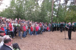 The Liberation Day ceremony in De Vloedbeld woods near Zenderen, May 4th 2009.