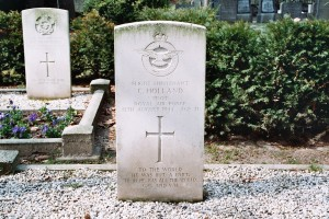 Flight Lieutenant Christopher Holland's headstone at Hardenberg