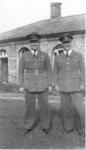 Carl Woodworth (Navigator) & Harold Paston Williams at Castle Gardens...they look like twins