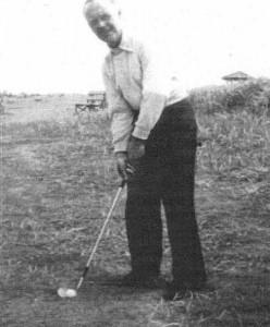 John Downie, keen golfer