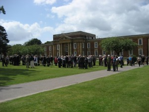 Crowds gather - Gerald Hood Memorial Day. Royal Russell School