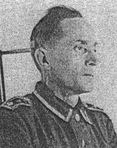 Georg Otto Sandrock, SD interrogator and commander of both execution parties.