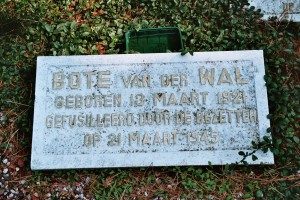 Bote van der Wal memorial tablet in woods