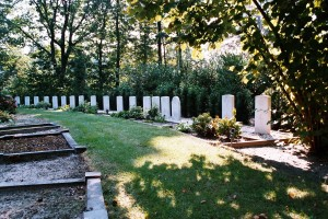 Commonwealth War Graves Commission plot at Almelo General Cemetery, Hood's final resting place