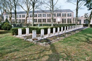 The allied aircrew burial plots at Hardenberg Cemetary