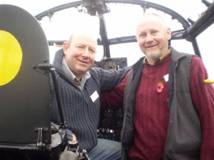Rob Stevens, Son of Stevie Stevens in the pilots seat and Alastair Taylor son of Charlie Taylor in the flight engineers position.