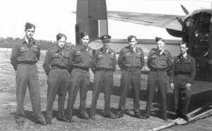 "Flt/Lt Christopher Holland and his crew just prior to his fateful ""second dickie"" trip."
