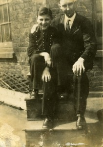 Flight Sergeant Laurence Roy Watts as boy in 1936 with father