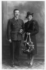 Pilot Officer Benjamin Ramsden & wife Marjorie