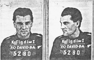 Flying Officer J/26845 Bruce Arnold David (RCAF) Baled out & captured, survived as P.O.W. (Stalag luft I, Barth) age 23