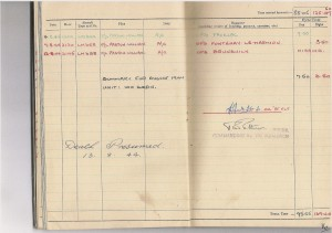 Flight Sergeant 1502966 Robert Stanley Williams (RAFVR) flight logbook